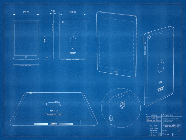 Por último, un boceto donde están anotadas diversas medidas de este nuevo iPad mini
